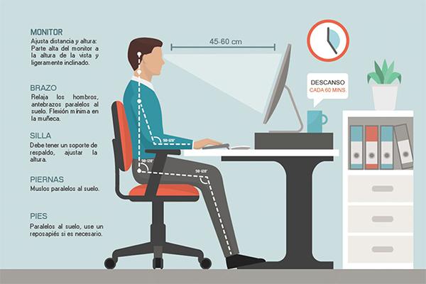 El teletrabajo y dolor de espalda: consejos y ejercicios para prevenirlo